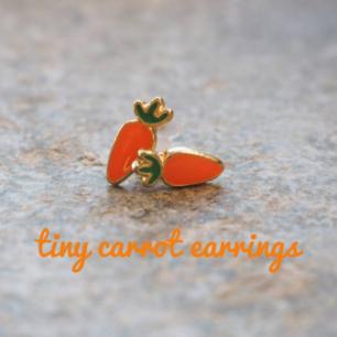 carrot earrings (new) frakt 10 kr