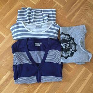 Kläder från WESC. 1st blårandig kofta, strl XL. 1st randig långärmad, strl XL och 1st t-shirt, strl L. Frakt ingår i pris! ⭐️