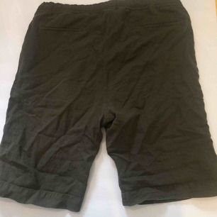 Our Legacy clay olive shorts, easily adjustable to fit smaller sizes