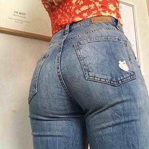 Jeans från Gina Tricot💙 Storleken som står i är 34, men de passar 36 bättre. Frakt 36kr💌
