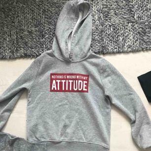 Snygg grå hoodie från Gina i bra skick