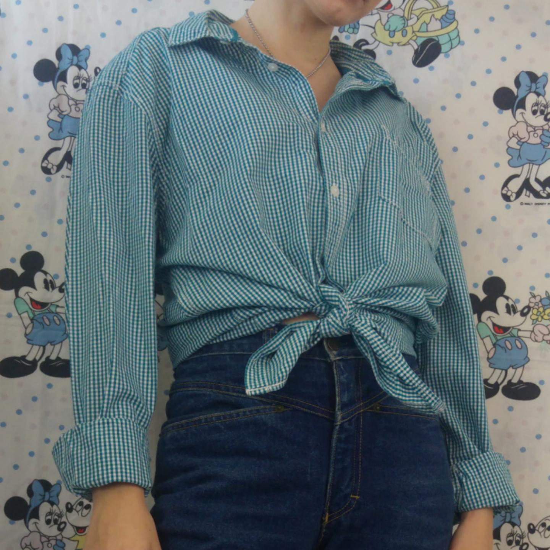 Jättesnygg smårutig skjorta från esprit. Storlek XL i herrstorlek, går att ha oversized. Köparen står för frakten, samfraktar gärna😊👍. Skjortor.