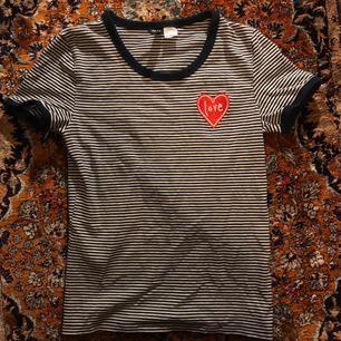 Randig t-shirt från hm