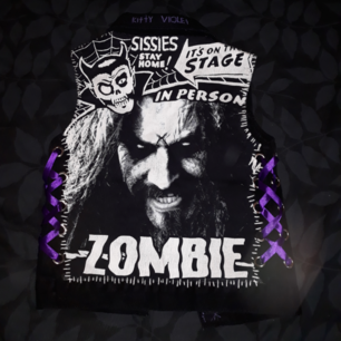 Rob Zombie DIY vest size S Pick up from sollentuna/city