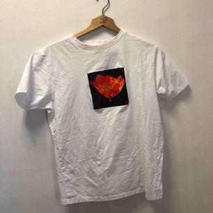 T-shirt med tryck från Soulland, stl L men sitter som en M