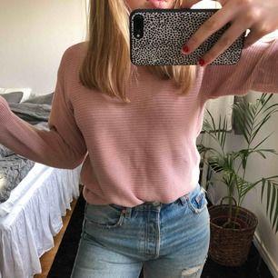 Rosa stickad polo tröja från topshop 😃 köpare betalar frakt :)