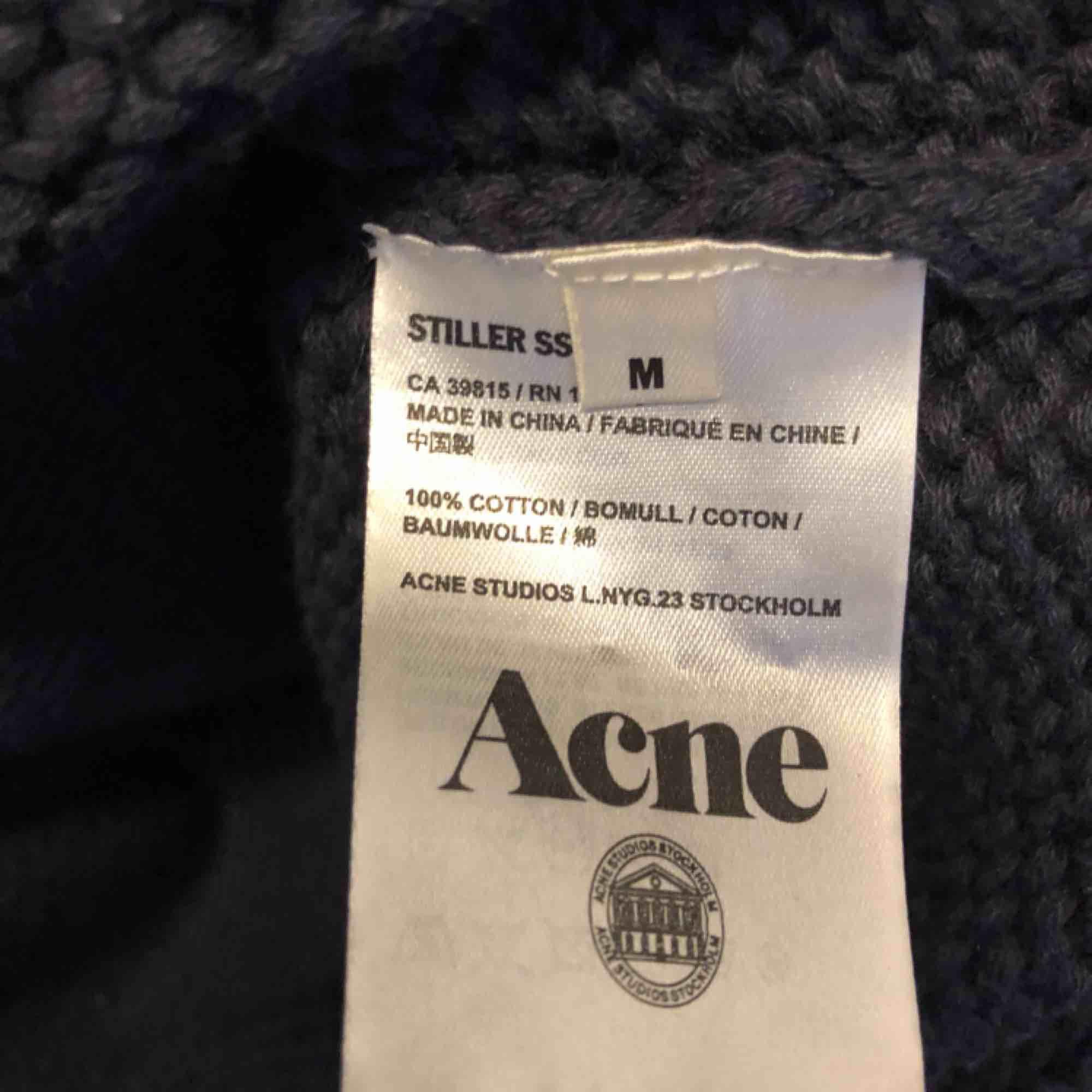 Oversized stickad tröja från Acne studios i stl M. Tröjor & Koftor.