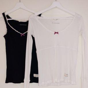 Ett linne i storlek 0 (100kr + frakt) och en långärmad tröja i storlek 1 (250kr + frakt). Båda är använda ett fåtal gånger.  Vid köp av båda får du dem för 300kr exklusive frakt!!