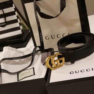 Gucci kopia bälte, medföljer allt på bild 600kr +tullavgift (60-100kr) (verkliga bilder)