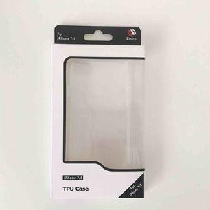 Oöppnat transparent silikonskal till iPhone 7/8 inköpt i januari säljes. Fraktkostnad på 39 kronor tillkommer!