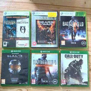 3 xbox360 spel o 3 xbox one spel, i dont want them så du får alla 6 för 300kr :-)