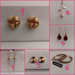 Selling lots of different unused earrings for 10 SEK / pc! 🤠 Can also fix package prices if you want more than 2 pairs! ❤️ Shipping will go different depending on how many pairs you want (no more than SEK 18, however). 6,7 & 8 ÄR DE SOM FINNS KVAR!