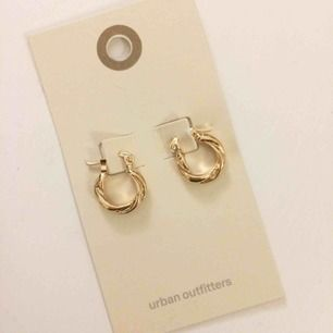 Jättefina guldfärgade örhängen från Urban Outfitters. Aldrig använda. Fri frakt!