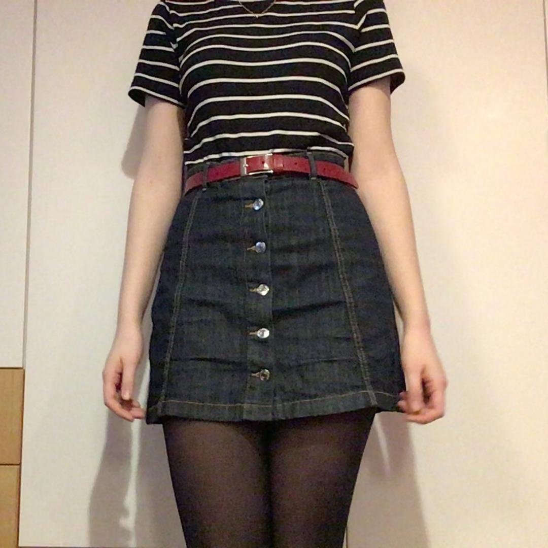 79072152e4ad jeans-kjol från gina tricot i storlek 38. inköpt för cirka ett år sedan ...