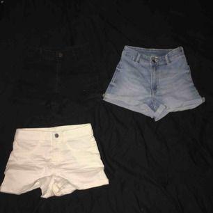 Högmidjade shorts från H&M i samma modell. Alla är strl 32. Alla för 70kr och enskilt 30kr.