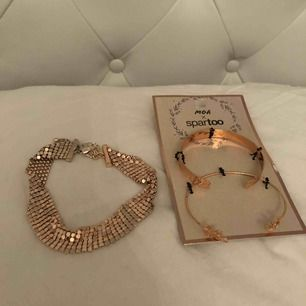 Rosé guld chocker och armband