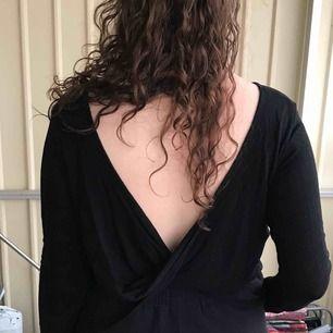 svart långärmad tröja med djup urringning i ryggen. Kan mötas i Örebro. Frakt står köparen för och jag ansvarar ej för något bortslarvade i posten.