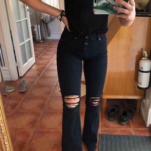 OBS! Smutsen på bilden är på spegeln och inte jeansen! Populära bootcut jeans från dr denim! Använda 3 gånger, där av toppenskick! Normala i storleken, möts på Östermalm eller så tillkommer fraktkostnad. Skriv för fler bilder. Nypris: 500kr🥰