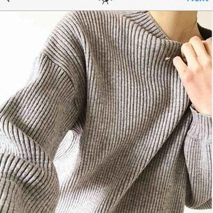 Härlig stickad tröja Grå Aldrig använd!  Frakt tillkommer