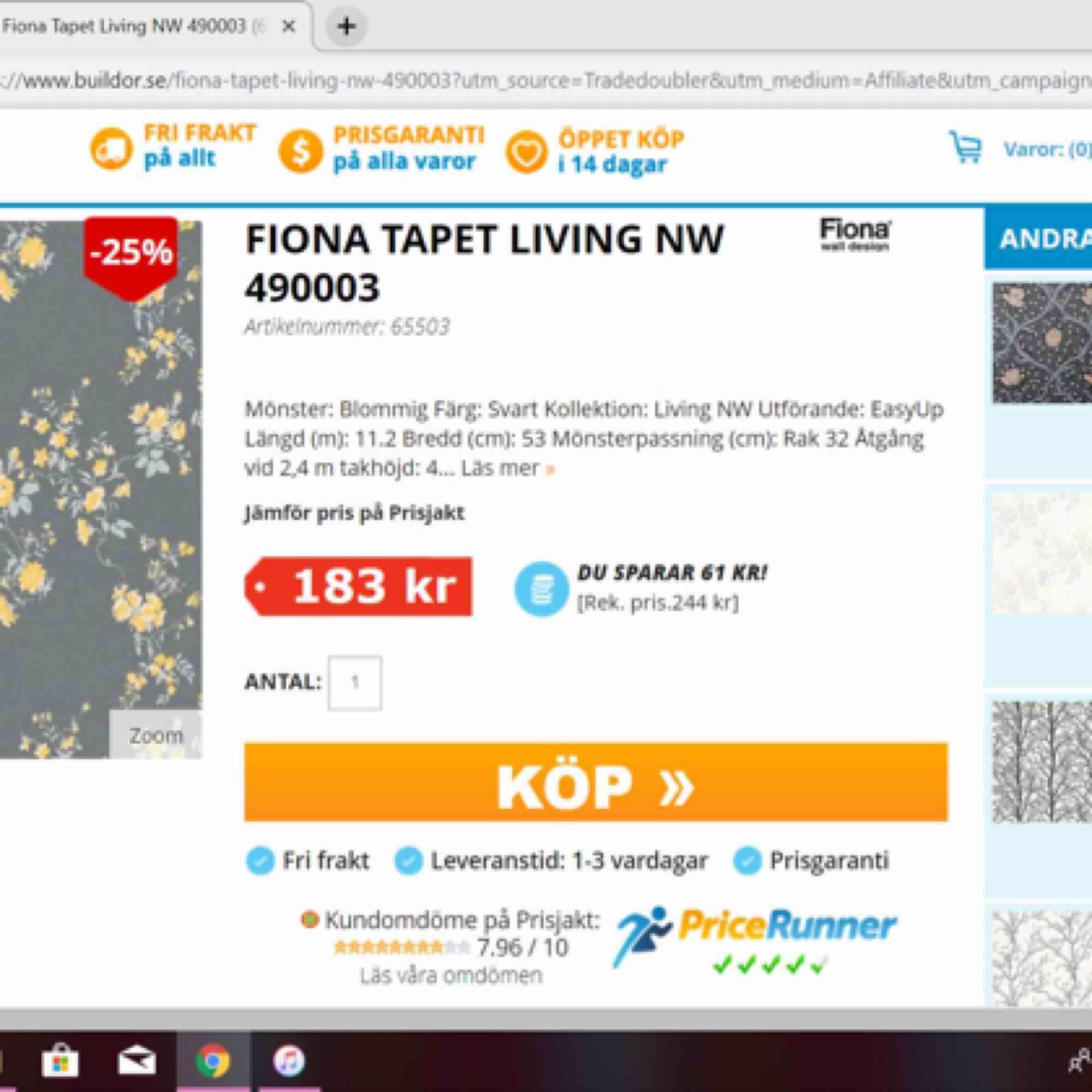 Säljer den vita Engblad & CO för 199 kr/rulle  Säljer den gråa Fiona Wall design för 99 kr/ rulle . Övrigt.
