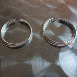 Vintage hoops i äkta silver. Nyputsade och i mycket fint skick!