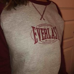 En grå/vinröd lite tajtare sweatshirt från Everlast. Typ aldrig använd!!