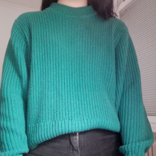 A green warm sweater from Monki, size XS, in a great condition!