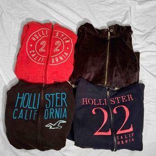 4 stycken hollister hoodies från Hollister. Alla i använt skick.  70kr/st eller alla för 200kr. Frakt kostar extra