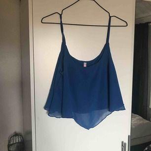 Fint blått, kortare linne från new Yorker. Endast testad så den är i mycket bra skick. inte använd pga att det inte är min stil. Frakt på 18kr tillkommer!