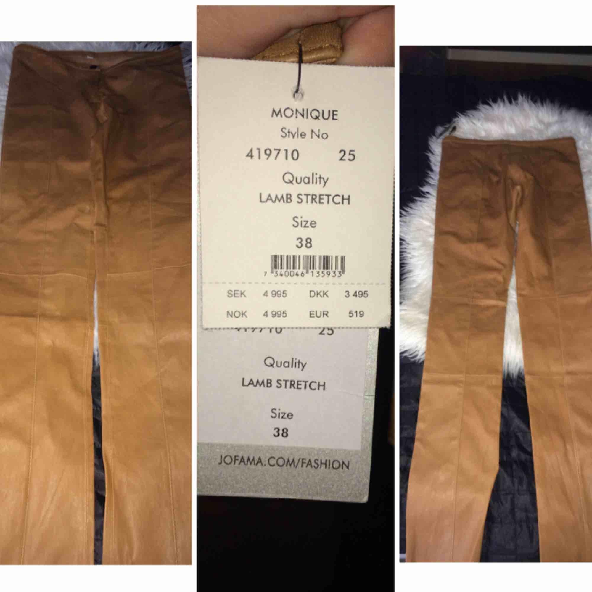Helt ny äkta jofama skinbyxor i stl 38  Prislapp finns kvar med ordpriset  Mitt pris som gäller  Kvittot finns ej kvar  Frakt tillkommer . Jeans & Byxor.