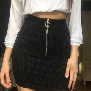 supersnygg kjol, aldrig använd då jag såg efter jag hade köpt den att den hade ett litet hål på sidan. inget jätte märkbart egentligen o går antagligen att laga men att sy är inte min grej så har inte gjort det hehe.