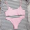 Superfin ljusrosa tanga bikini från NA-KD, aldrig använd. Kan fraktas för 9 kr ❤
