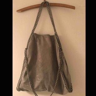 Fin grå väska, säljer pga att jag ej använder den längre.  Första bilden är utan blixt, andra bilden med.
