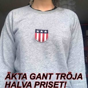 - Äkta grå GANT tröja i M men passar mig som är S  - Möts i Uppsala (fraktar ej)  - Fint skick, inte så använd  - Snabb affär!  - både tjejer och killar kan bära tröjan
