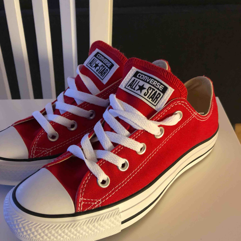 Helt nya aldrig använda klar röda Converse! Storlek 36,5.  . Skor.
