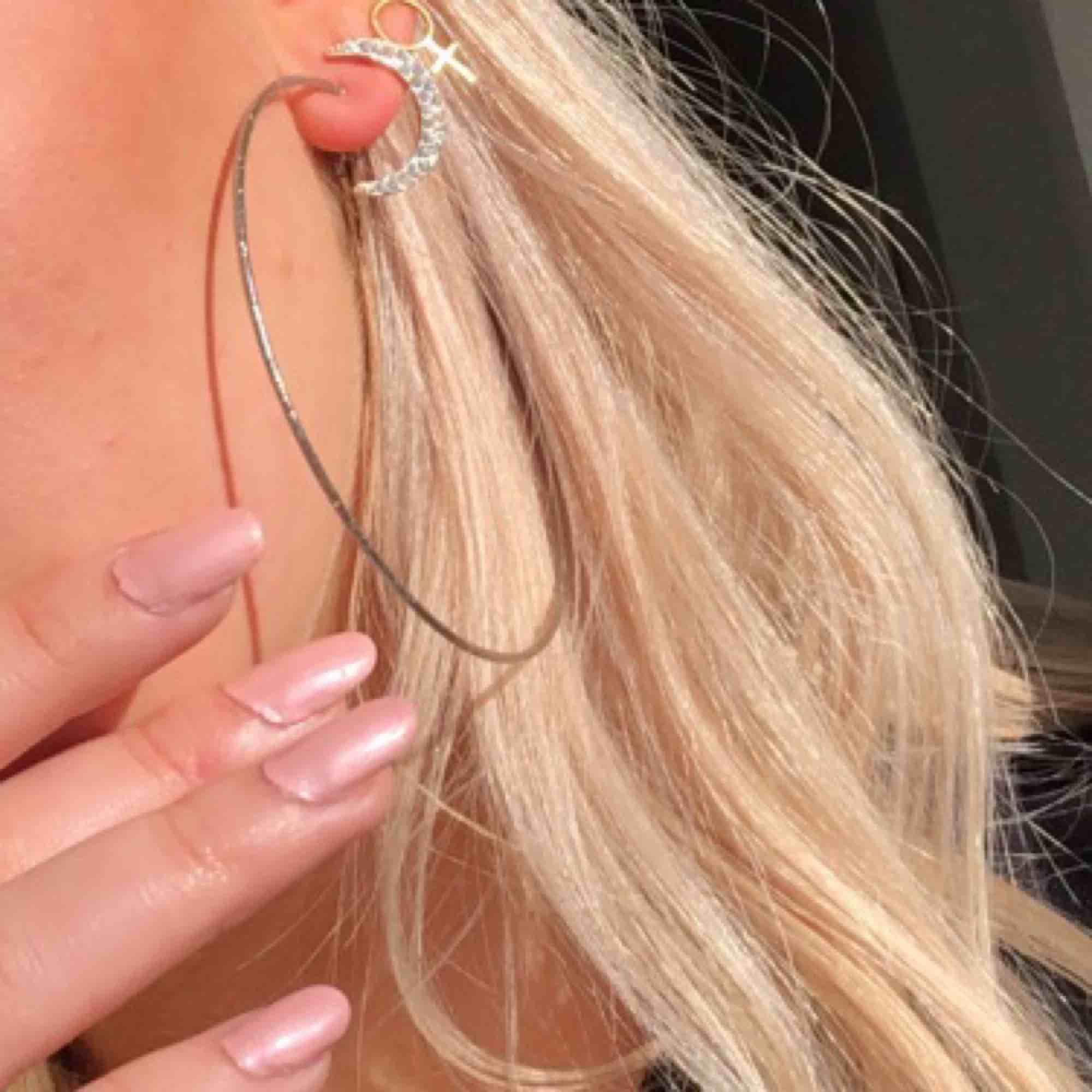 Jättefina örhängen i perfekt skick i silver! Fri frakt. Accessoarer.