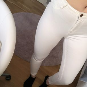Endast testade Molly jeans från Gina. Råkade olyckligt nog göra ett litet hål vid en av bältesgrejerna, men borde inte vara så svårt att sy ihop! Frakt tillkommer✨