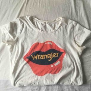 skitsnygg wrangler t-shirt! köpt på Carlings, använd kanske fem gånger så fint skick :) möter upp i göteborg eller så betalar köparen frakt :) puss