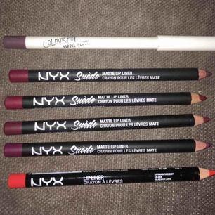 Colourpop och Nyx läppennor: 40 kr/st. Bh Cosmetics, City Color och H&M Beauty: 20 kr/st. Köp fler och få paketpris!