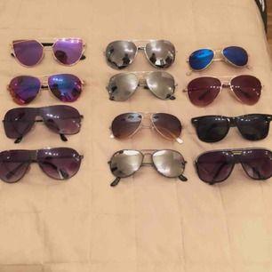 Solglasögon i ny skick! ✨1 par 40kr ✨ 3 par 100kr (eller alla för 200kr) 📦Fraktar - Bildbevis/Videobevis. ✅Jag garanterar en snabb pålitlig affär.