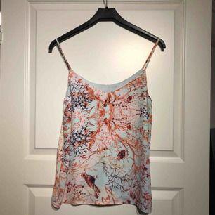 Helt oanvänt linne från Lindex i stl S. Jättefräscht att ha på sommaren eller sen vår när det är lite varmare. Köparen står för frakt om det behövs postas (40kr)
