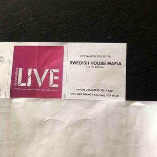 Säljer 3 st biljetter till swedish house mafias konsert den andra maj i år. Det är sittplatser. Biljetterna är nästan helt slutsålda, så bud från 650kr. Jag har bokat en resa så jag missar denna konsert tyvärr. Hör av er för mer information!💕
