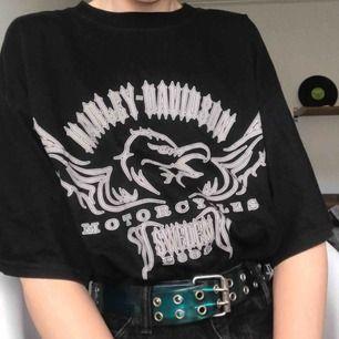 Så snygg Harley-Davidson t-shirt i jättefint skick. Den är skitcool och edgy. Skriv för mer information. Frakt på 39kr tillkommer.