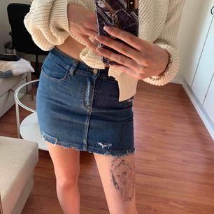 Jeans kjol med slutning knappt använd