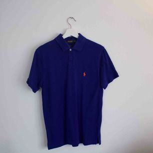Polo Ralph Lauren pikétröja Blå i fint skick, storlek L