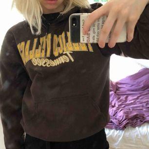 Brun hoodie köpt på beyond retro