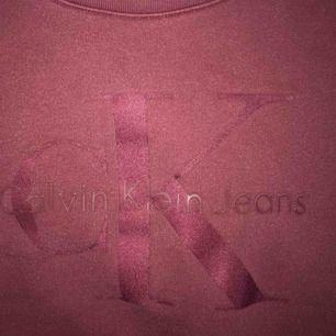 Snygg vinröd tjocktröja från Calvin Klein med märket över bröstet :)