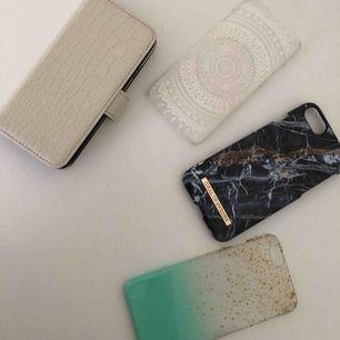 Säljer 4 st skal till iPhone 6, varav ett är plånboksskal Med spegel och ett är från Ideal of Sweden • Säljer dessa två för 100kr/styck och 50kr/styck för resterande två • Köparen står även för frakten!