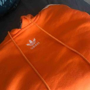 Croppad Adidas hoodie i orange. Köpt på UO i London förra året. Mycket sparsamt använd. Köpare står för eventuell fraktkostnad. Kan mötas upp i Örebro, eventuellt Stockholm vid tillfälle.