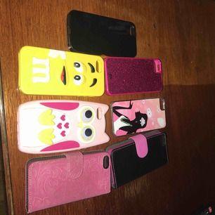 7 st mobilskal till iPhone 5  Har ny mobil, fint sick :)